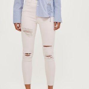 Topshop Jamie Distressed Jeans